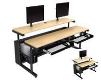 multi tiered computer desk crafty multi computer desk dual monitor fabulous desks desk