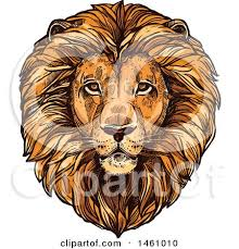royalty free vector clip art illustration of a cute lion by