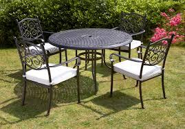 Aluminium Garden Chairs Uk Royalcraft Versailles Round 4 Seater Dining Set