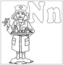 nurse coloring pages children tags nurse coloring fun