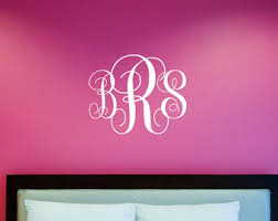Monogram Wall Decals For Nursery Wall Decal Wall Decals For College Dorms College Vinyl
