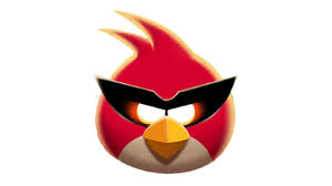 draw red bird angry birds space