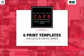 photoshop menu template cafe menu template pack for photoshop illustrator brandpacks