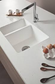 kitchen white granite elkay sinks with white countertop also