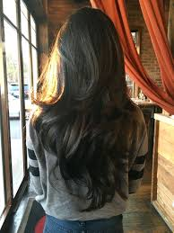 two layer haircut for girls long dark chocolate brown wavy hair with layers long wavy