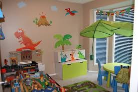 fun playroom ideas for kids with funny animal decal wall design