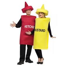 Mario Luigi Halloween Costumes Couples Halloween Costumes Couples Ketchup Mustard Costume