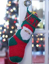 bernat santa u0027s stocking just for you knit pattern yarnspirations