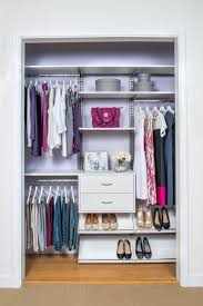How To Organize Clothes Without A Closet Organized Living Freedomrail Adjustable Shelving