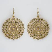 la vie parisienne vintage earrings gold filigree earrings