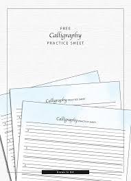 calligraphy practice sheet u2014 drawn to diy