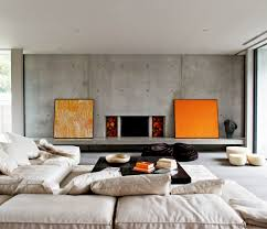 comfy stylish family room design interior ideas with floor sofa