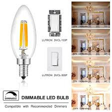 8 pack sunmeg led candelabra bulb dimmable 40w equivalent led