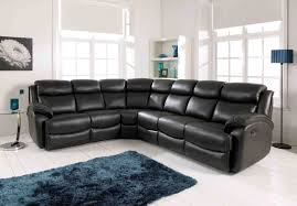 Black Leather Sofa With Chaise Ideas Interesting Britania Corner Couch With Elegant Pattern For