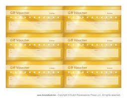 food voucher template free