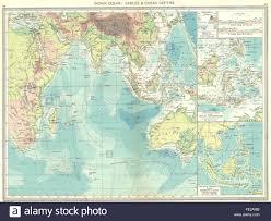 Indian Ocean Map Indian Ocean Cables U0026 Depths Malay Archipelago 1907 Antique Map