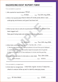 incident report form template word 7 sle incident report form resumes word
