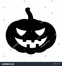 black and white halloween background silhouette halloween pumpkin silhouette vector illustration jack stock vector