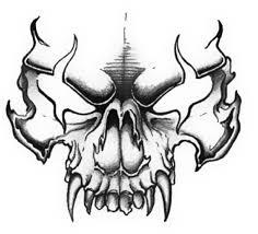 simple evil tattoo evil skull drawings tattoo art pinterest skull drawings