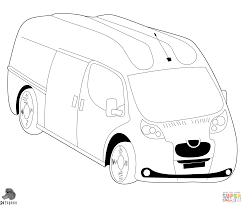 hippie bus coloring page free printable coloring pages