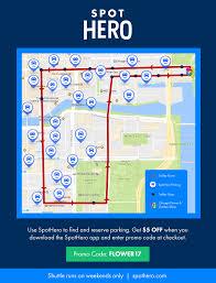 Chicago Parking Map by Parking Options U2013 Chicago Flower U0026 Garden Show