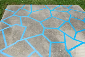 Painting Patio Pavers From Concrete Slab To Cozy Patio Until We Can Afford Pavers