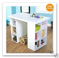 Craft Desk With Storage Sewing Machine Extension Table With Storage Craft And Mobile