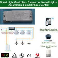 smart lights google home smart light controller dimmer for google home mini echo alexa