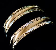 bracelet gold white gold images Designer bangle yellow gold white gold finish daily wear light jpg