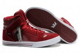 New Supra Price Cut Price New Arrivals Vaider Skate Shoes Red White Red Sole