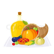 colorful thanksgiving food decoration elements horn of