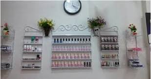 five piece iron continental shelf wall nail polish nail shop