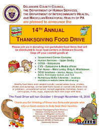 the food network thanksgiving 14th annual thanksgiving food drive delaware county library system