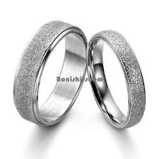 engagement ring for men frosted center stainless steel dome engagement ring men s women s