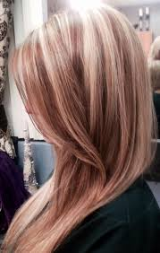 short blonde hair with black lowlights chunky highlights and