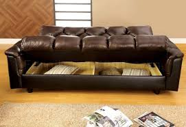 Brown Leather Sofa Bed Dark Brown Leather Sofa Bed Photos Home Decoration Gallery