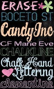 tons of free chalkboard fonts and dingbats u create