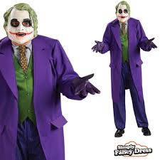 mens heath ledger joker batman dark knight fancy dress costume ebay