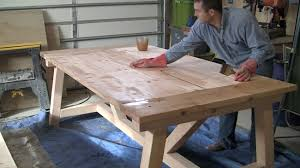 How To Build A Wood End Table by How To Build A Farmhouse Table