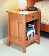 Free End Table Building Plans by Cherry Bedside Table Woodsmith Plans Furniture Plans