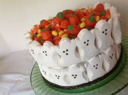 halloween peeps candy all the little ghosties in a row u2026a halloween cake everything