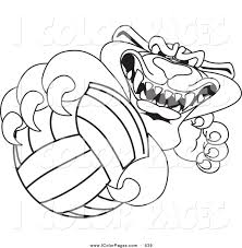 coloring volleyball coloring pages