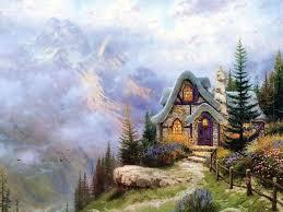 Thomas Kinkade Clocktower Cottage by 595 Best Thomas Kincade Paintings Images On Pinterest Thomas