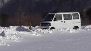mitsubishi minicab van mitsubishi minicab in snow youtube