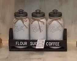 kitchen canisters flour sugar coffee sugar flour etsy