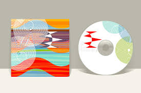 cd cover design template abstract pattern graphics stock vector