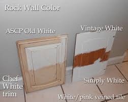 Kitchen Cabinet Comparison Using Chalk Paint For Oak Kitchen Cabinets Test Door U2013 Front