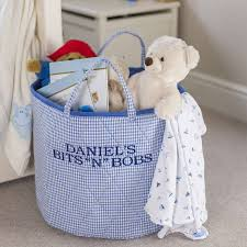 baskets notonthehighstreet com blue gingham toy storage basket toy boxes chests