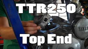 how to yamaha ttr250 top end replacement 1999 2006 3rd patron