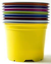 nutley u0027s 12cm round coloured plastic plant pots rainbow mix
